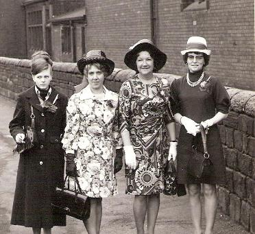 Edna May Bailey 1927 - 2010, with Ivy Thompson and Kath Bottomley during the 1950's